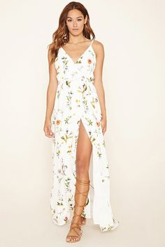 Oh My Love Floral Maxi Dress - Dresses - 2000236343 - Forever 21 EU English