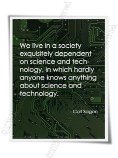 Carl Sagan Quote Typography Art Print