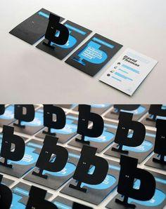Tarjetas De Presentacion Con Pop Up Tipografico Visitenkarten Business Branding Corporate Design