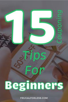 15 couponing tips for beginners and how to get started. Save thousands with these easy steps. Save Money On Groceries, Save Your Money, Ways To Save Money, Money Tips, Money Saving Tips, How To Make Money, Frugal Living Tips, Frugal Tips, Couponing For Beginners