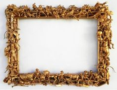 My old photo teacher had frames like these that he made. Mostly out of found action heros spray painted. Amazing.