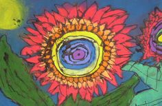 Super easy art lesson for all grades. I taught this lesson to sixth grade and the results are far more detailed than what you would expect from a second grader. Kids love it. 3rd Grade Art Lesson, 6th Grade Art, Sixth Grade, Fourth Grade, Chalk Pastel Art, Chalk Pastels, Chalk Art, Easy Art Projects, School Art Projects
