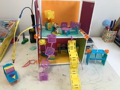 Isabella's very unique Roominate design. Make It Yourself, Toys, Unique, Happy, How To Make, Design, Activity Toys, Design Comics, Games