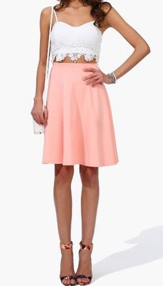 love the color and style of the skirt!