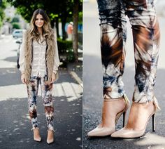 Thassia Leggin & Colete pele