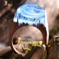 Waltz of the Winds! Almost imperceptible yet inescapable. The world and the wind waltz round us like lively lovers in whirly wonderland. This ring is made ofli