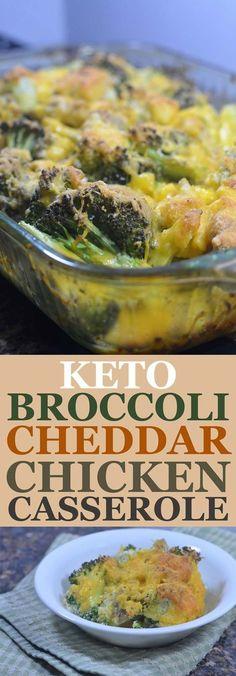 Delicious broccoli cheddar chicken casserole! It's gluten-free, grain-free, keto and low-carb!