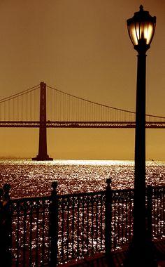 San Francisco - Oakland Bay Bridge from Pier 7