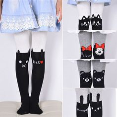MIOIM Kids Cotton Knitted Tights Baby Infant Toddler Girls Warm Pantyhose Hosiery Pants Socks