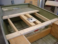 jon boat deck extension | With that concept, I was able to have two storage areas on both sides ...
