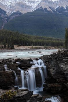 Athabasca Falls in Canada   Stunning Places #Places.You must see it to appreciate it... Breathtaking !