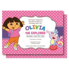 dora party invitations printable free – invitation templates word, Birthday invitations