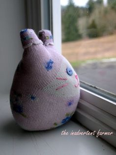 so cute and from a sock too!!