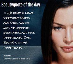 Beautyquote van Carre Otis op www.makeupmymind.nl