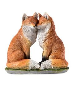 Add charm to your home décor with this figurine that features an artfully crafted animal couple design. W x H x DPolystoneImported Wildlife Decor, Animal Kingdom, Whimsical, Fox, Couples, Crafts, Animals, Design, Products