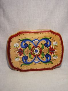 Norwegian Rosemaling Plaque Rogaland Style by craftswithgramma, $45.00