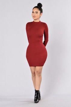 Hole In My Heart Dress - Burgundy | Fashion Nova. Size: M
