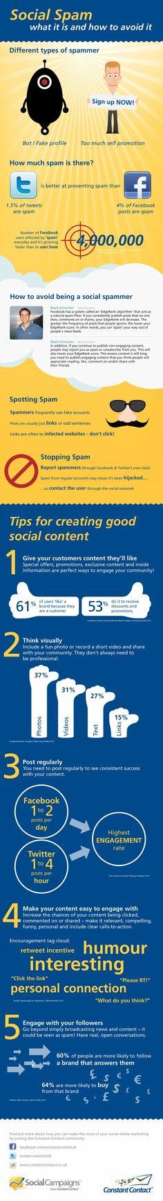 Social Spam y 5 Consejos para Crear Buenos Contenidos Sociales