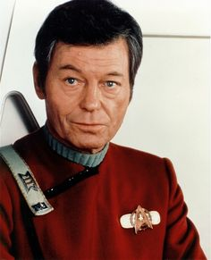 DeForest Kelley, (Dr. Leonard H. (Bones) McCoy). Jan. 20th, 1920- June 11th, 1999 The best Country Doctor in the 23rd Century. We Miss ya, Bones.