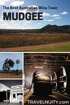 What's the best wine town in Australia and perfect for a weekend away from Sydney? Mudgee!