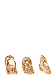 Bold Bejeweled Ring Set | FOREVER21 - 1000091031