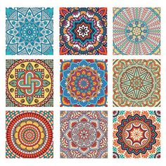 Tile sticker Set of 9 pieces in the specified size High quality vinyl adhesive in premium print quality. Friction, Scratch & Uv-Protected. For kitchen, bathroom, garden or living room. Made in Germany
