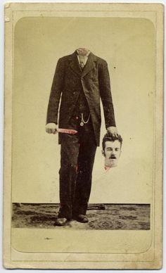 Fotos de pessoas sem cabeça na era vitoriana | IdeaFixa
