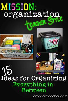 Mission Organization: Teacher Style