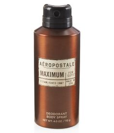 Aeropostale Maximum Body Spray(New Look) Latest Fashion, Mens Fashion, Men's Grooming, Body Spray, Smell Good, Guys And Girls, Aeropostale, Cologne, Moda Masculina