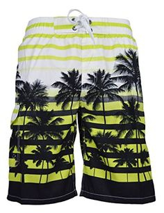 Mens Beach Shorts Fashion Music Swimming Trunks Jogging Classical Beachwear