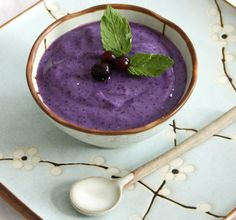 #Blueberry Chai Pudding
