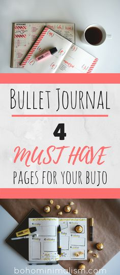 The options and ideas for pages is literally endless. However, there a few that I would deem as MUST HAVE for anyone creating their own bujo! These pages are what I would consider the backbone of the bullet journal and are also some of the most useful for personal development and goal achievement.