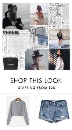 """""""smiles could be misleading ."""" by ugh-nxghts ❤ liked on Polyvore featuring Vanity Fair, Converse and Chanel"""