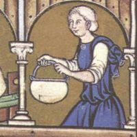 Schlupfärmel Maciejowski-Bibel, Paris, um 1250: