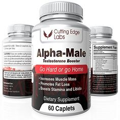 Alpha-Male Natural Testosterone Booster for Hypertrophy, Energy and Performance with Horny Goat Weed & Tongkat Ali