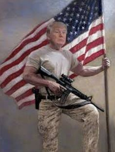 turn on images to see trump with AR-15