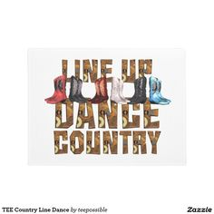 TEE Country Line Dance Doormat