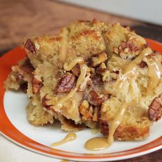 Pecan pie makes a great breakfast this fall season. Try it in french toast form!