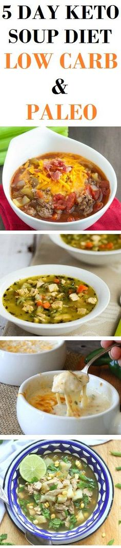 The following keto soup diet that lasts for five days is a great option if you want to shed few pounds in a short time, or get on track after you've over-indulged for some time.