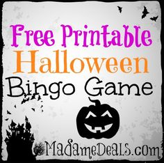 This free printable Halloween BINGO game is fun and easy to play with kids.