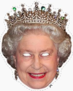 Free Queen Elizabeth Printable Mask for a crazy Photo Booth Queen Elizabeth Birthday, Queen 90th Birthday, Birthday Wishes, Printable Masks, Free Printables, Printable Worksheets, Theme Anglais, British Party, English Royal Family