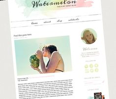 Watermelon Blogger Template - Luvly Marketplace | Premium Design Resources #blogger #templates