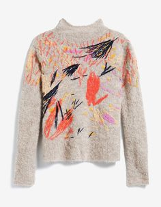 Our editors have their sights set on this statement embroidered sweater from Rachel Comey. Textiles, Diy Fashion, Fashion Design, Fashion Hacks, Rachel Comey, Look Chic, Pulls, Refashion, Textile Design
