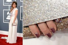 Kady Z's Nail Art at the 2013 Grammy Awards. Love the nails with the bag.