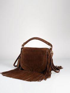17f580e44938 Fringed Suede Saddle Bag - Polo Ralph Lauren Hobos   Shoulder Bags -  RalphLauren.com