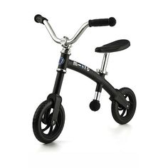 If you're looking for a no fuss, no muss solution to teaching your little one to ride a bike, this is it. The Micro Balance Bike does away with pedals and training wheels, making it a cinch for beginners to master. Kids learn balance and control while using their feet to move safely and smoothly along. Not only that, but the lightweight frame makes it easy to carry and the big-kid design offers an added source of cool confidence.