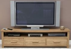 Homestyle GB Opus Oak Plasma TV Unit - Wide
