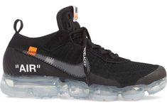 Another Look At The Upcoming Off-White x Nike Air VaporMax Black          Last week, we let you know that the Off-White x Nike Air VaporMax Black could very well be releasing by the end of the month. Today we came... http://drwong.live/sneakers/off-white-x-nike-air-vapormax-black-more-images/ Nike Vapormax Flyknit, Nike Fashion, Runway Fashion, Fashion Shoes, Milan Fashion, Fashion Models, Off White Shoes, Running Shoes Nike, Nike Basketball Shoes