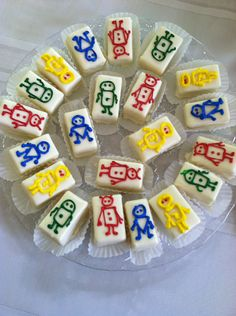 The perfect Robot Themed Baby Shower Petit Fours. From City Cafe, Fayetteville, GA