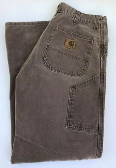 2801dd4b Men's Carhartt Carpenter Jeans Lt Brown 33X32 See description for details  #fashion #clothing #
